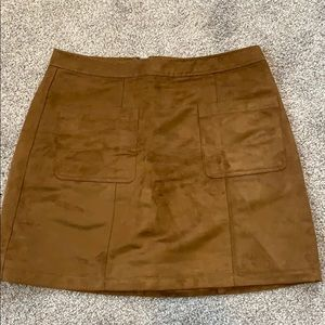 NWOT Faux Suede Skirt